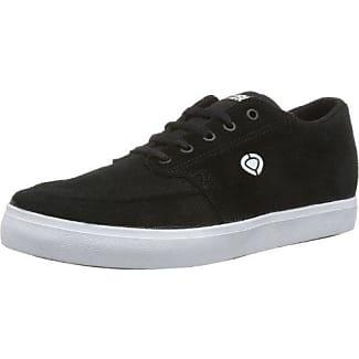 C1RCA TRANSIT Transit-M - Zapatillas de cuero para unisex-adultos, color negro, talla 38.5, Black/White, EU 43.5 (US 10.5)
