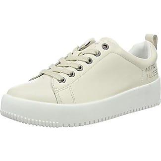 Calvin Klein Jeans Dale Fringe Canvas, Sneakers Basses Femme, Blanc Cassé (Off blanc), 36 EU