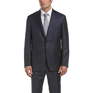 Prix Réel Pas Cher Storm-blue Slim-fit Water-resistant Super 130s Wool Suit Jacket - Storm blueCanali La Sortie Dernières Collections hldUtLDQq