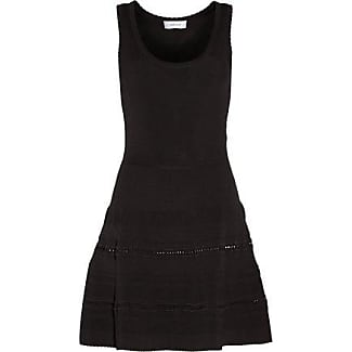 Carven Woman Fluted Stretch-knit Mini Dress Black Size M Carven Cheap Sale For Cheap Sale Nicekicks S1LgP8YlG
