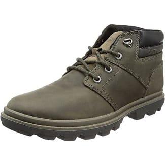 Caterpillar Zapatos con Cordones de Piel Lisa Hombre, Color Marrón, Talla 41 EU