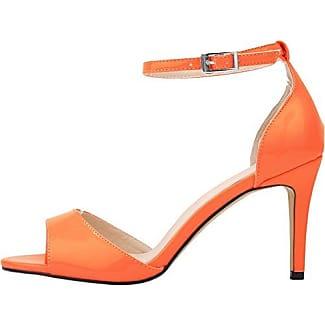 CFP , Damen Knöchel-Riemchen , orange - Orange - Größe: 41