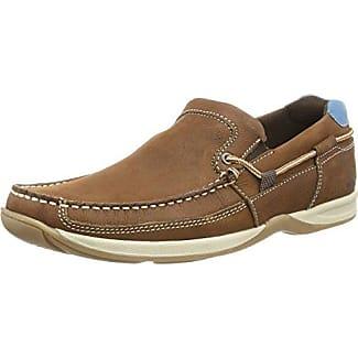 Chatham Marine D803-060 - Zapatillas de vela de cuero para hombre, color marrón, talla 40