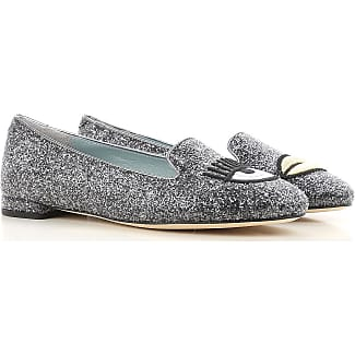 Ballet Flats Ballerina Shoes for Women On Sale, Grey, Leather, 2017, 3.5 4.5 5.5 Chiara Ferragni