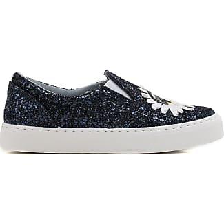 Slip on Sneakers for Women On Sale in Outlet, Denim, Denim, 2017, 3.5 5.5 Chiara Ferragni