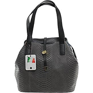 CTM Satchel Bag by Stylish Women, 18x115, Genuine leather 100% Made in Italy Chicca Tutto Moda