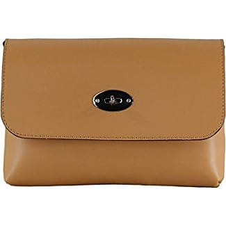 CTM Womans Clutch, Small Shoulder Bag with inner shoulder strap, genuine leather made in Italy - 26x18x6 Cm Chicca Tutto Moda