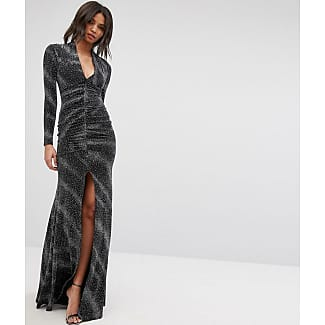 City goddess backless maxi dress in sequin lace tops