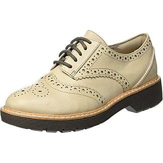 Alice Mae, Zapatos de Cordones Brogue para Mujer, Beige (Sand Combi), 41 EU Clarks