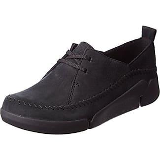 Clarks Wallabee, Sneakers Basses Femme, Noir (Black), 35.5