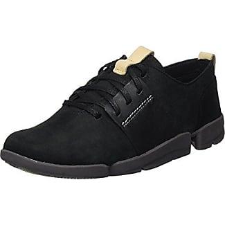 Clarks Floura Mix, Zapatillas para Mujer, Negro (Black Leather), 38 EU