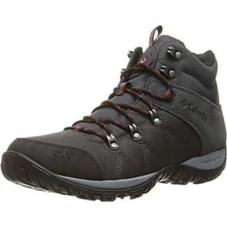 Columbia Peakfreak Venture Mid Lt, Chaussures de Randonnée Hautes Homme, Gris (Shark, Mountain Red 011), 40 EU