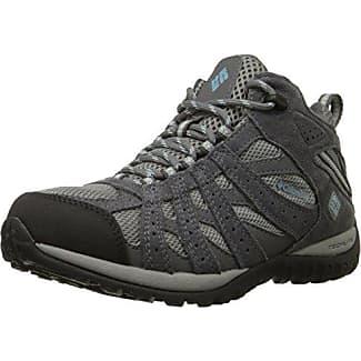 Columbia Redmond Omni-Tech, Chaussures de Randonnée Basses Homme, Gris (Dark Grey/Bright Copper 089), 48 EU