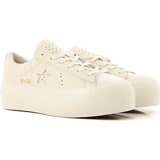 Chaussures De Sport Pour Les Femmes En Vente, Blanc, Coton, 2017, Nous 5 (eu 36) 7,5 (38 Eu) Nous 8 (eu 39) Nous 9 (eu 40) Converse