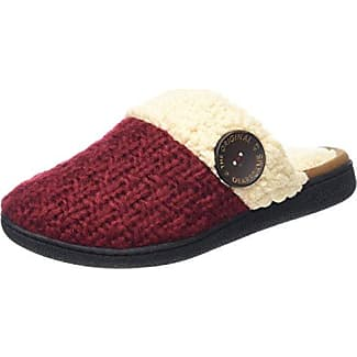 DearfoamsTextured Knit Closed Toe Scuff - Talón Abierto Mujer, Color Negro, Talla 38/39