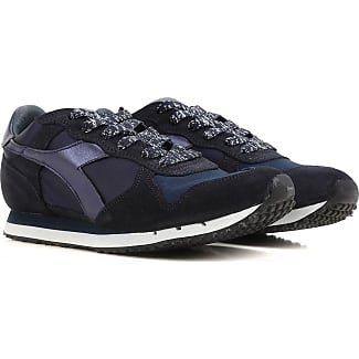 Sneakers for Women On Sale, Shadow Blue, Suede leather, 2017, 3.5 4.5 5.5 6.5 8.5 Diadora