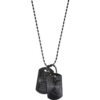 Diesel Necklaces On Sale, Openthedoor, Black, Zamack, 2017, One Size