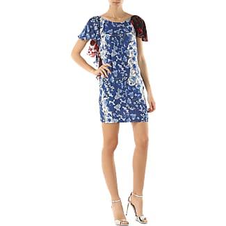 Dress for Women, Evening Cocktail Party On Sale, Light Blue, Silk, 2017, 10 8 Dondup