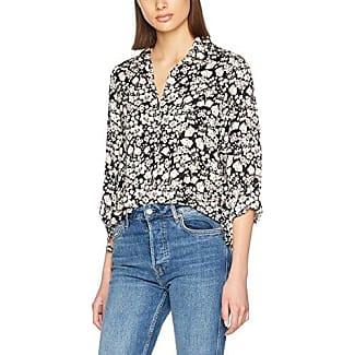 Dorothy Perkins Floral Roll Sleeve, Camisa para Mujer, Rosa (Blush 040), 44