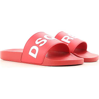 Sandals for Men On Sale, Flame Red, Leather, 2017, 5 5.5 7 Dsquared2