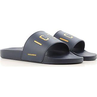 Sandals for Men, Black, Leather, 2017, 5.5 6.5 9 Dsquared2