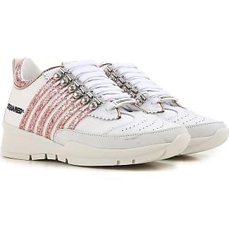 Sneaker für Damen, Tennisschuh, Turnschuh Günstig im Sale, Weiss, Leder, 2017, 35 36 36.5 37 41 Dsquared2