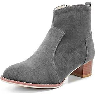 Easemax Damen Sexy Quaste Spitze Zehe High Heels Ankle Boots Mit Absatz Schwarz 46 EU nQnDS