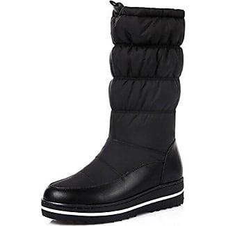 Easemax Damen Elegant Langschaft Halbhohe Riemen Martin Boots Stiefel Schwarz 35 EU boOtR