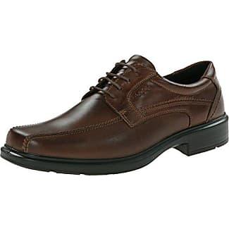 Ecco Helsinki - Zapatos clásicos de cuero para hombre, color marrón, talla 41