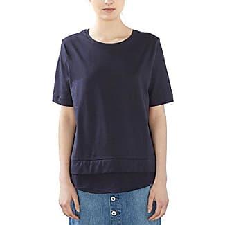 EDC by Esprit mit Print - Camiseta para Mujer, Color Azul (Navy 400), Talla 38 (Talla Fabricante: M)
