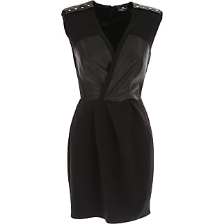 Dress for Women, Evening Cocktail Party On Sale, Black, polyester, 2017, 10 12 6 Elisabetta Franchi