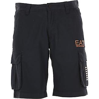 Shorts para Hombre, Pantalones Cortos Baratos en Rebajas, Azul, Poliester, 2017, L M S XS Emporio Armani