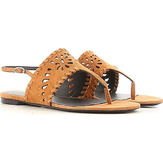 Sandals for Women On Sale, Brown, Suede leather, 2017, 3.5 4.5 5.5 7.5 Ermanno Scervino