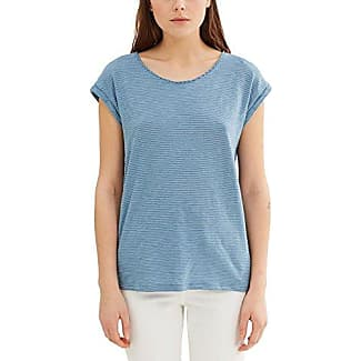 066ee1k005-Striped, T-Shirt Femme, Mehrfarbig (Grey Blue 420), 36Esprit