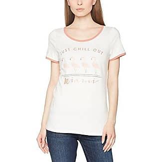 Esprit 017ei1k015-T-Shirt Photoprint, Camiseta para Mujer, Blanco (Off White), 34 (Talla del Fabricante: X-Small)