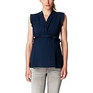 Esprit SL P84312, Blouse de Maternité Femme, Blau (Night Blue 486) FR: 36 (Taille Fabricant: 34)