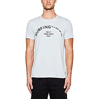057ee2k023, T-Shirt Homme, Blanc (White), SmallEsprit