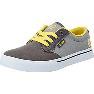 Etnies - Zapatillas de Skateboarding de Cuero Unisex Infantil, Color Gris, Talla 33 EU
