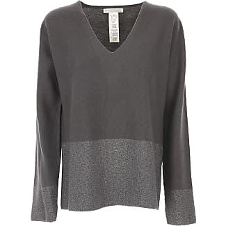 Sweater for Women Jumper On Sale, Asphalt Grey, Virgin wool, 2017, 10 Fabiana Filippi