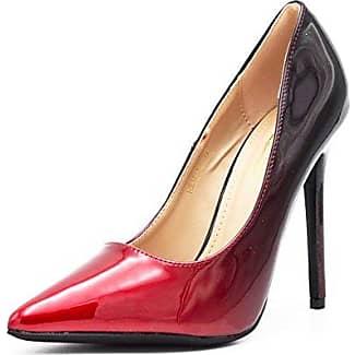Fashion Shoes, Damen Pumps , rot - leuchtend rot - Größe: 38