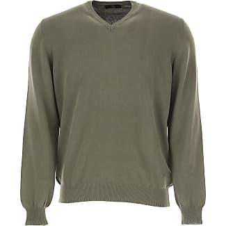 Sweater for Men Jumper On Sale, Medium Grey, Wool, 2017, XL Fay