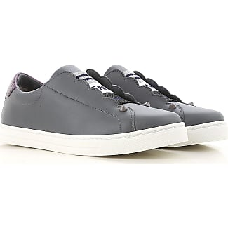 Sneakers for Women On Sale, Mouse Grey, Leather, 2017, 3.5 4 5.5 6 Fendi
