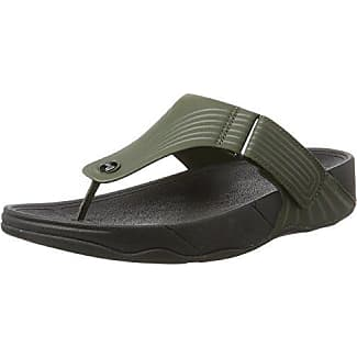 Perry Slider, Sandales Bout Ouvert Homme, Vert (Dark Khaki 34), MNew Look