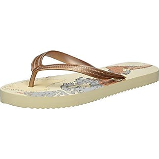 Flip*flopOriginal Spots - Sandalias de Punta Descubierta Mujer, Color Gris, Talla 38 Flip*Flop
