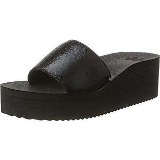 Flip Flop Flippadrilla Spots, Mocasines para Mujer, Negro (Black 000), 39 EU