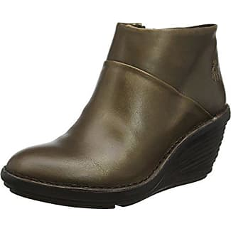FLY London Damen Yank774fly Stiefel, Braun (Sludge/Olive), 35 EU