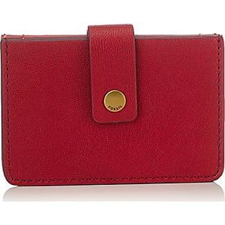 Damen Geldbörse - Mini Tab Wallet, Womens Rot (Red Velvet), 1.6x6.4x10.2 cm (B x H T) Fossil