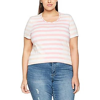 Frapp T-Shirt Rundhals 1/2 Arm Materialmix, Camiseta para Mujer, Marfil (Offwhite), 44