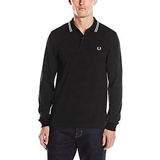 Fred Perry FP Twin Tipped, Polo Homme, Nero (Liquorice), Large