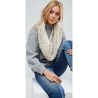 Chunky Oatmeal Knitted Scarf - Taupe French Connection rGQsnoA